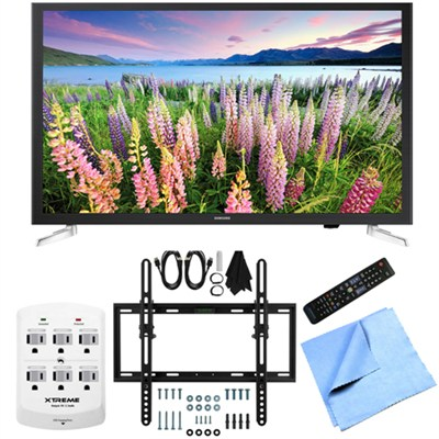 UN32J5205 - 32-Inch Full HD 1080p Smart LED HDTV Flat/Tilt Wall Mount Bundle