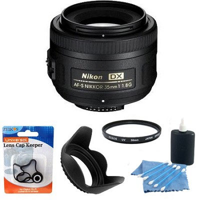 AF-S DX 35mm F/1.8G Lens Exclusive Accessory Bundle