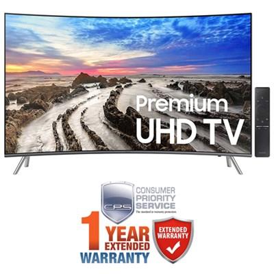 54.6` Curved 4K UHD Smart LED TV (2017 Model) + Extended 1 Year Warranty Bundle