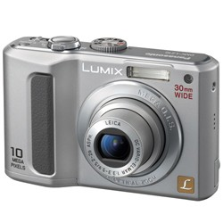 DMC-LZ10 (Silver) Lumix 10 Megapixel Digital Camera w/5x Optical Zoom & 2.5` LCD