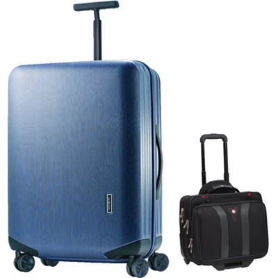 Inova Luggage 28` Hardside Spinner (Indigo Blue) Plus Wenger Laptop Boarding Bag