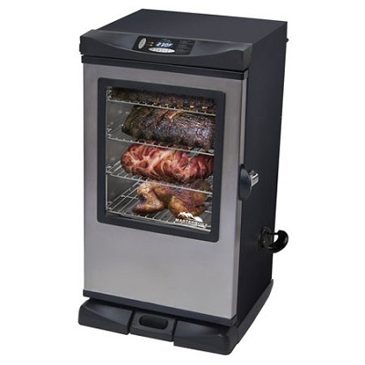 30-Inch Front Controller Electric Smoker with Window & RF Controller