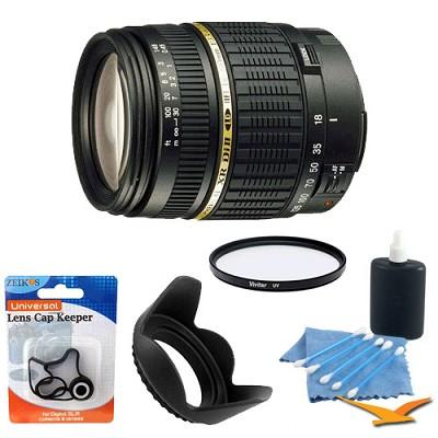 18-200mm F/3.5-6.3 AF  DI-II LD IF Lens For Canon EOS W/ UV Filter & Hood Kit