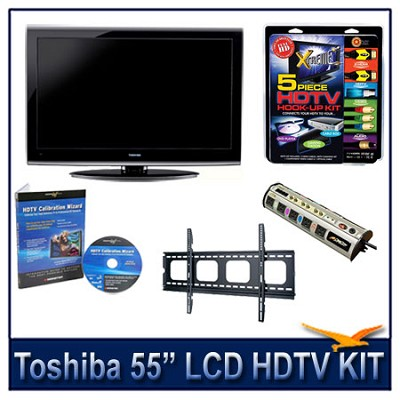55` 1080p LED HDTV w/ Net TV + Flat Mount + Hook-Up + Power Protection & More