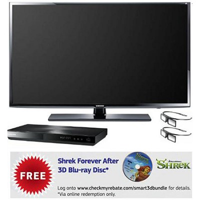 UN46EH6070 46` 1080p 120hz 3D Slim LED Smart HDTV w/ 3D Blu-ray & 2 Glasses