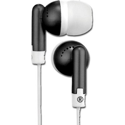 HP61BK Squish 9 MM Stereo Earbuds (Black)