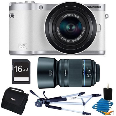 NX300 20.3 MP Digital Camera White 16GB Kit