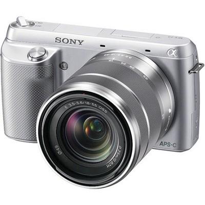 NEX-F3K Digital Camera built in flash with 18-55mm Lens (Silver) - OPEN BOX