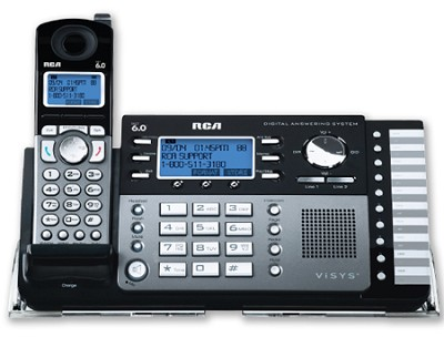 2 Line Cordless Multi-Handset System with Digital Answering System