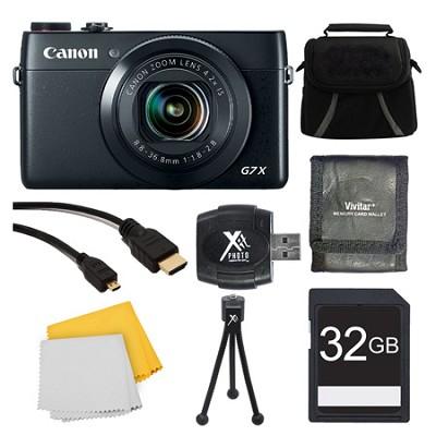 PowerShot G7 X Digital Camera 32GB Ultimate Bundle