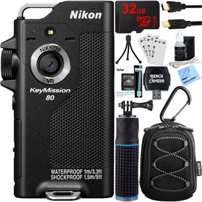 KeyMission 80 Full HD Action Camera with Built-In Wi-Fi + 32GB Accessory Bundle