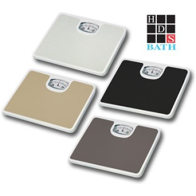 Bathroom Scale with Non-Skid Protection Black