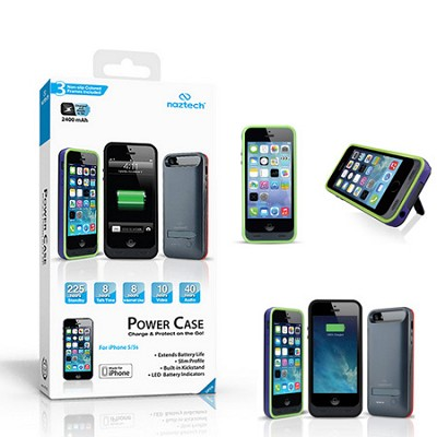 Apple Certified 2400mAh Power Case with Kickstand for Apple iPhone 5/5s  (Slate)