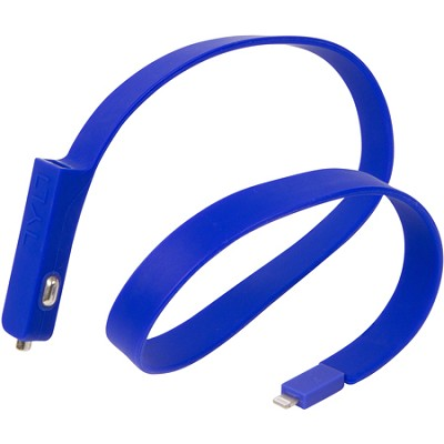 BAND Car Charger Lightning Cable - Blue