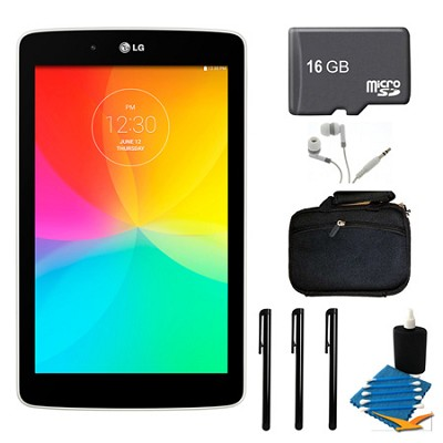G Pad V 400 8GB 7.0` WiFi White Tablet, 16GB Card, and Case Bundle