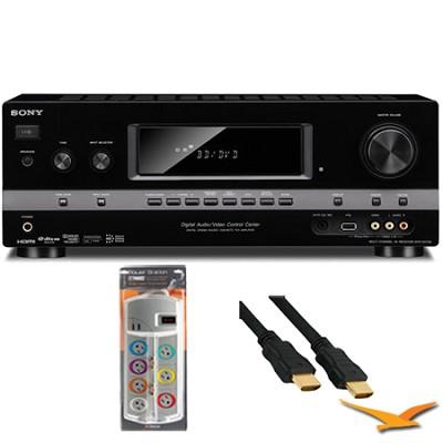 7.1 Channel 3D Surround Sound AV Receiver (STRDH720) with HookUp Bundle