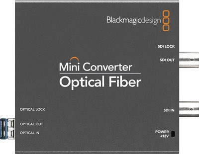 Mini Converter - Optical Fiber ( PS & SFP connector Included)