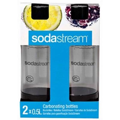 0.5 Liter Carbonating Bottles, Black (Twinpack)