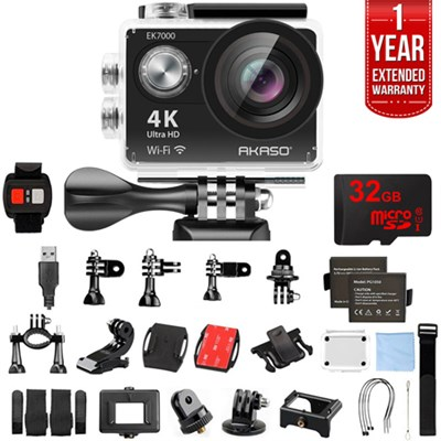 EK7000 UHD 4k Wide Waterproof Sports Action Camera Black w/ 32GB+Warranty