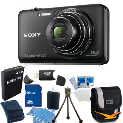 Cyber-shot DSC-WX9 Black Digital Camera 16GB Bundle