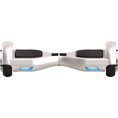 Balancing Horizontal Electric Scooter w/Front LED Lights (White) (OPEN BOX)