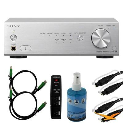 UDA-1/S Hi-Res USB DAC System for PC Audio - Silver Bundle