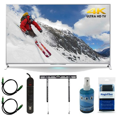 XBR-65X800B - 65-inch 4K Ultra HD Smart LED TV Motionflow XR 240 Mount Bundle