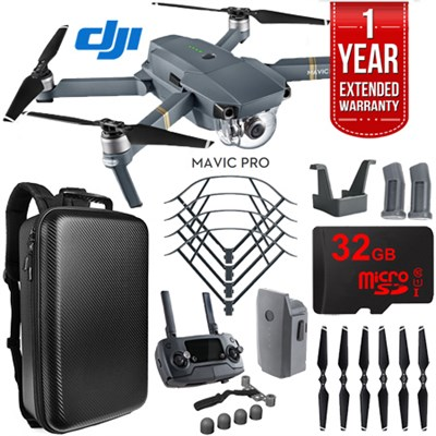 Mavic Pro Quadcopter Drone with 4K Camera and Wi-Fi Mobile Command Bundle