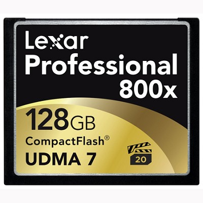 128 GB Professional 800x Compact Flash (Thin Box) 2-Packs (LCF128CTBNA8002)