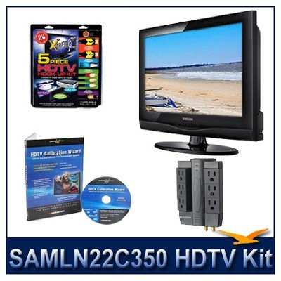 LN22C350 - HDTV + High-performance Hook-up Kit + Power Protection + Calibration