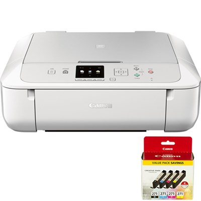 PIXMA MG5720 Wireless Inkjet All-In-One Printer w/ 4 Color Value Pack Bundle