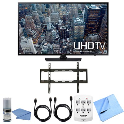 UN65JU6400 - 65-Inch 4K Ultra HD Smart LED HDTV Flat Mount Bundle