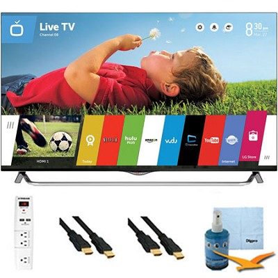 49` 2160p 120Hz 3D Smart LED 4K Ultra HDTV WebOS Plus Hook-Up Bundle (49UB8500)