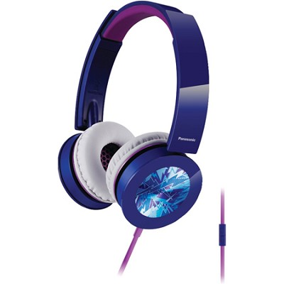 Sound Rush Plus On-Ear Headphones w/ Mobile Controller, Blue