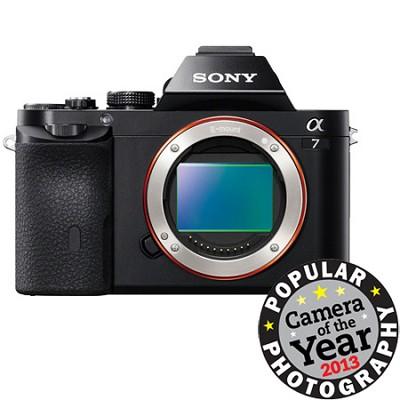 a7 Full-Frame Interchangeable Lens Black Digital Camera