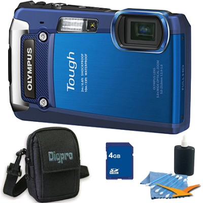 4GB Kit Tough TG-820 iHS 12MP Water/Shock/Freezeproof Digital Camera - Blue
