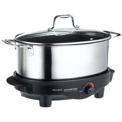 84866 6-Quart Versatility Slow Cooker with Glass Cover, Stainless