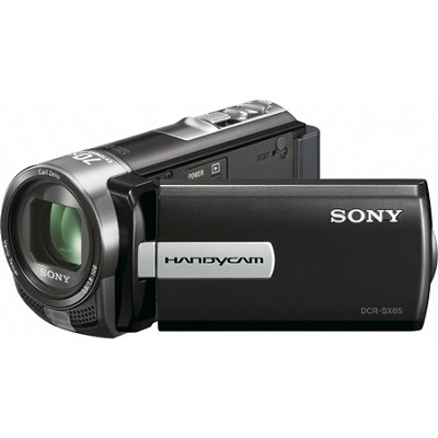 DCR-SX65 Handycam Compact Black 4GB Camcorder w/ 60x Optical Zoom