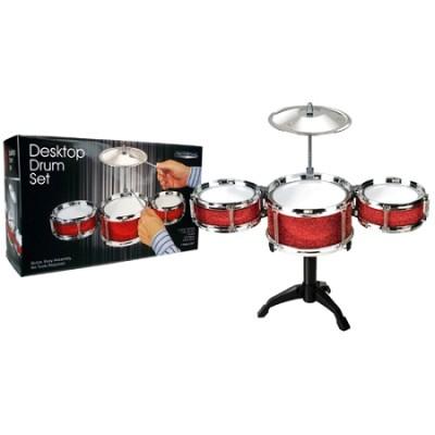 Premium Play Red Desktop Drum Set