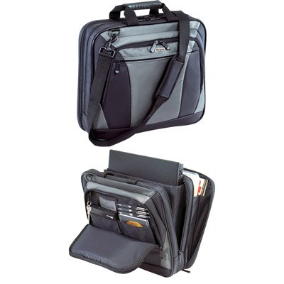 16` CityLite Topload Laptop Case in Black and Gray - TBT050US