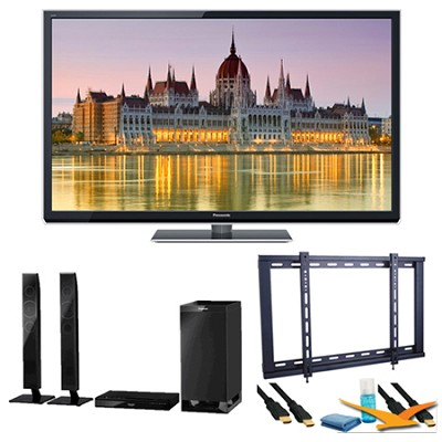 55` TC-P55ST50 VIERA 3D HD (1080p) Plasma TV with Built-in Wifi Speaker Bundle