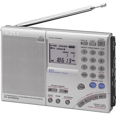 ICF-SW7600GR FM Stereo Multi-Band World Band Receiver Radio