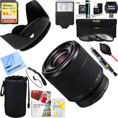 SEL2870 FE 28-70mm F3.5-5.6 OSS Full Frame E-Mount Lens + 64GB Ultimate Kit