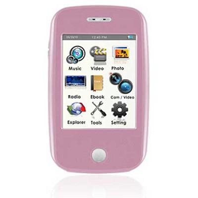 E6 Series - 4GB MP3 Video Player w/ 3` Touchscreen, Camera w/ Video - Pink