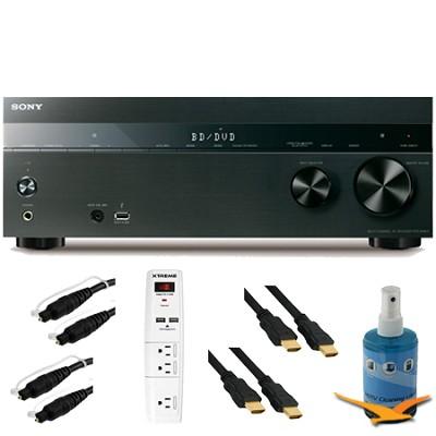7.2ch 1050W A/V Receiver Wi-Fi Bluetooth Airplay Plus Hook-Up Bundle - STR-DN850