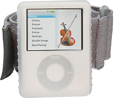 Protective silicone skin for iPod nano 3rd gen (Clear - w/ detachable Armband)