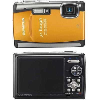 Stylus Tough 6000 10MP 2.7` LCD Digital Underwater Camera (Orange)