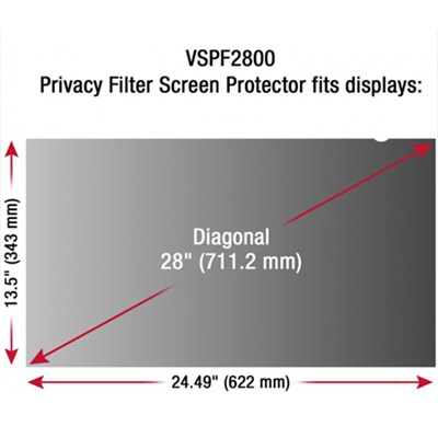 28` Privacy Filter Screen Protector - VSPF2800