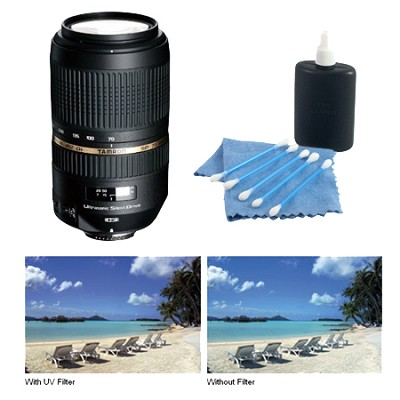 AF 70-300mm f/4.0-5.6 SP Di VC USD XLD for Canon EOS Bundle with Hoya Filter Kit