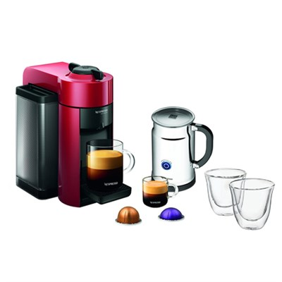 Vertuoline Evolu GCC1 Espresso Maker/Coffee Maker /Aero+ Bundle w/ Glasses